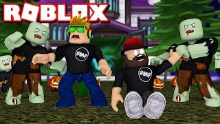 DON'T GET INFECTED! ROBLOX ALL OUT ZOMBIES / BLOX4FUN
