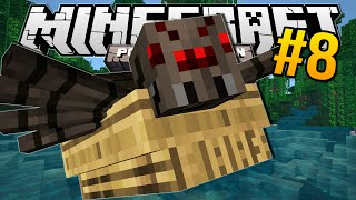 Minecraft Pocket Edition | SPIDER IN MY BOAT!! | #8