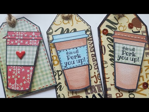 COFFEE LOVER & TEA LOVER GIFT TAGS | PAPER CRAFTING