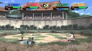 [Wii] Naruto Shippuden GNTS [Gai Vs Kakashi Vs Kurenai Vs Asuma]