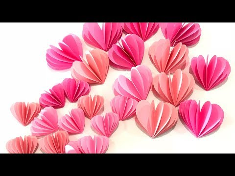 DIY Wall Hanging【Paper Heart Wall Hanging】