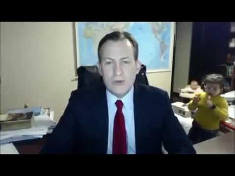 Dads Nightmare Let Your Kids Interrupt At BBC Interview Live - Dad entertains 5 kids