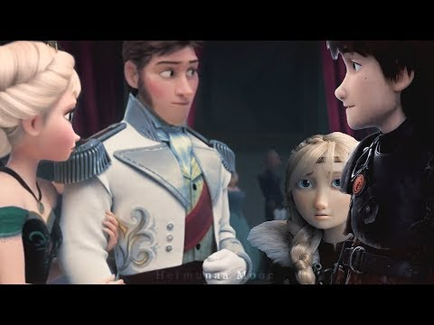 Elsa + Hiccup Ft. Hans/Astrid • Distance
