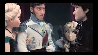 Elsa + Hiccup ft. Hans/Astrid • Distance
