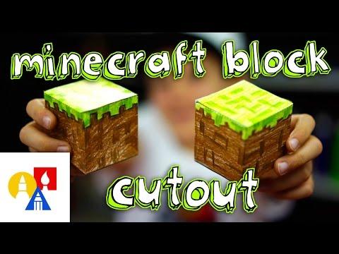 Minecraft Block Cutout (Papercraft Grass Block)