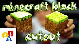 Minecraft Block Cutout (Papercraft Grass Block)