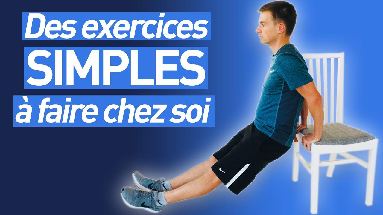 3 Exercices Simples Pour Faire Du Sport A La Maison Youtube