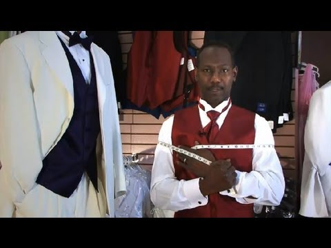 How To Measure For Tuxedo Vests : Tuxedos