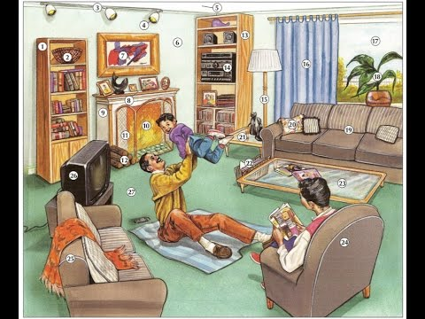 Oxford dictionary | Lesson 30: A Living Room | Learn English | Oxford picture dictionary