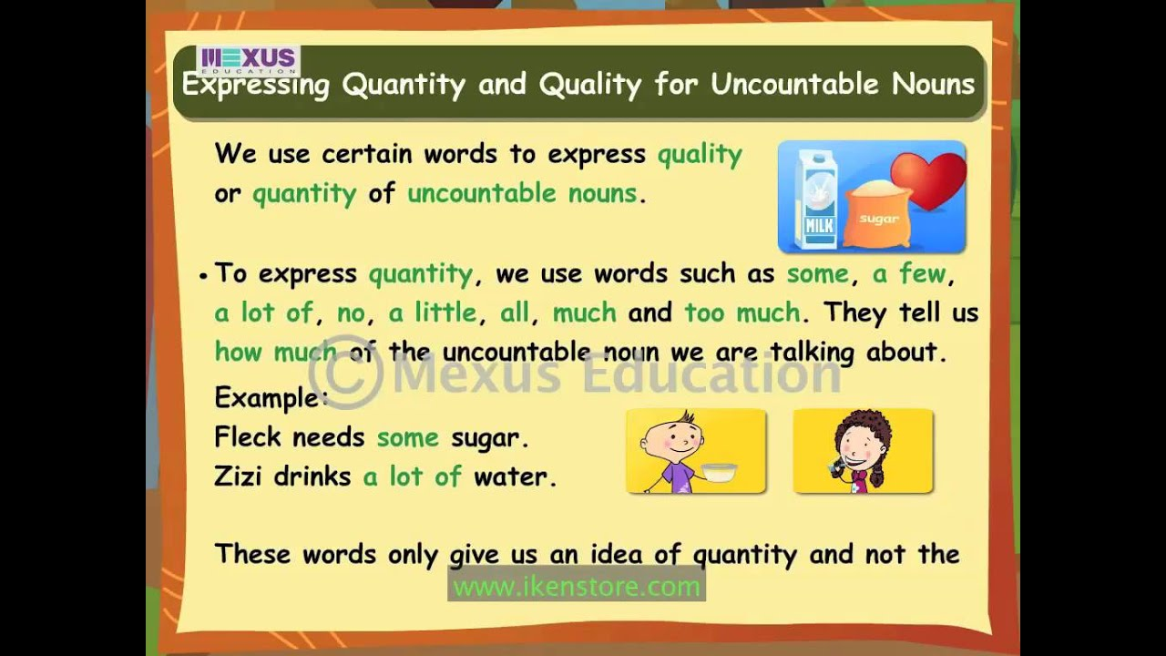 Learn English Grammar Countable And Uncountable Nouns