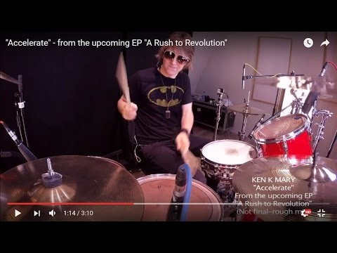 """Ken Mary """"Accelerate"""" - from  the upcoming EP """"A Rush to Revolution"""""""