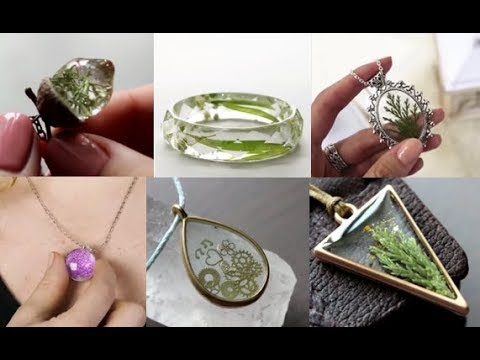 17 FAIRY PENDANTS MADE FROM DRIED PLANTS AND EPOXY RESIN jewelry 2019