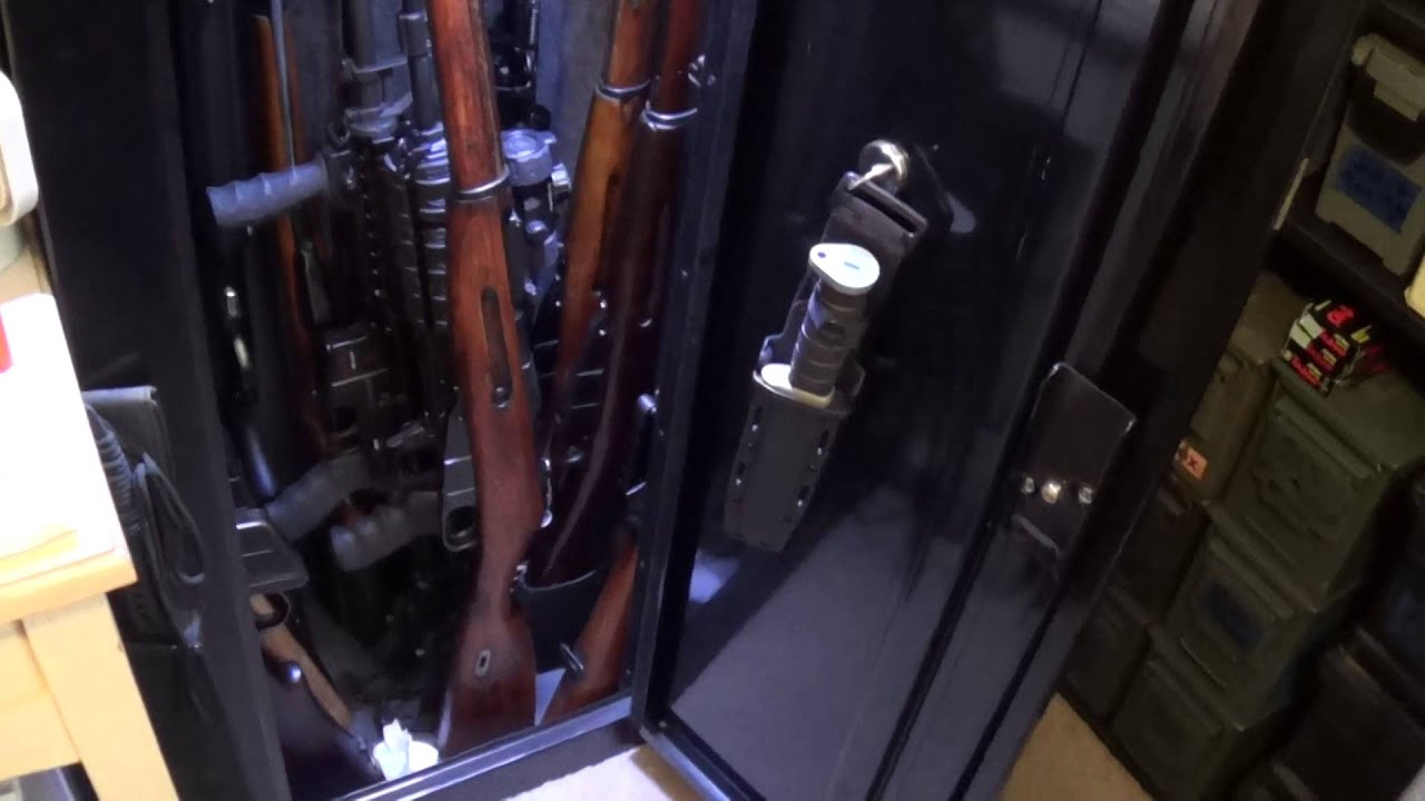 & Stack On 14 Gun Cabinet - YouTube