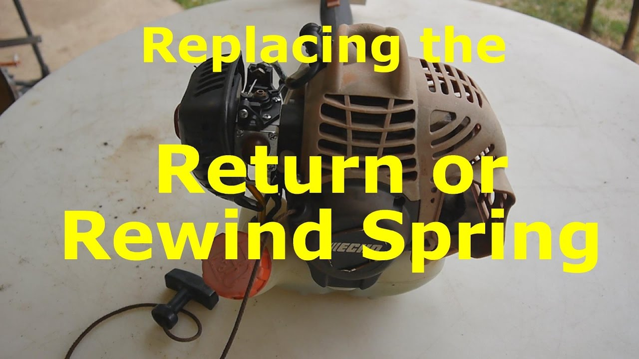 Replacing the Recoil Spring and Pull Rope on a Gas Trimmer Weedeater