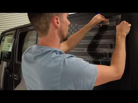 Jeep American Flag Window Decal Installation For Hardtops - Ronin Factory