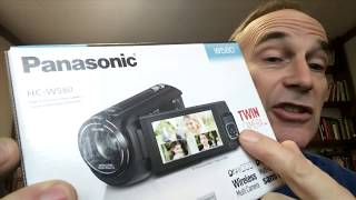 Best Value Digital Video Camera Panasonic HC-W580 HC-V380 Unboxing and Review