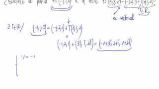 En este vídeo se analiza si un punto pertenece a una recta que vien...