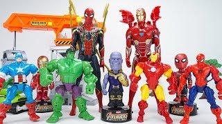 Avengers Infinity War Thanos Turns My Puppy into Tyrannosaurus! Avengers Go Go Go! | ToyMoon