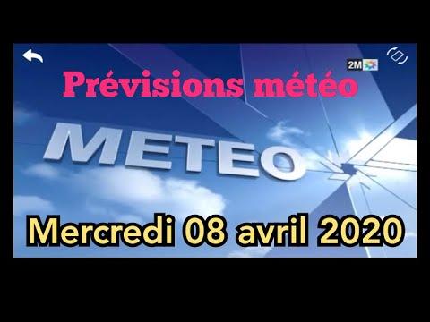 Prévisions météo au Maroc pour Mercredi 08 Avril 2020