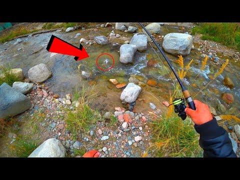 Вопрос: Как рыбачить в небольшом ручье?