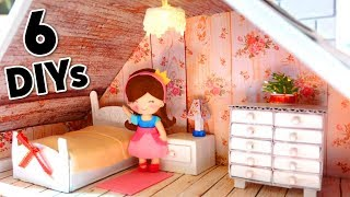 6 DIY Miniature Dollhouse: Rooms - furnitures - beach - winter and autumn scenes