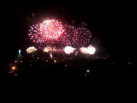 Yerevan- World Book Capital 2012 (Firework). Фейерверк в Ереване.