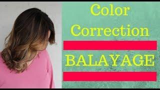 Balayage Gone Wrong - Balayage Color Correction || Hair Tutorial