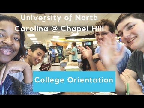 College Orientation at UNC Chapel Hill