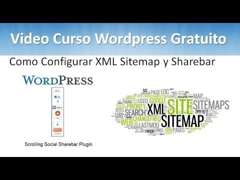 16 tutorial wordpress como configurar xml sitemap y sharebar youtube