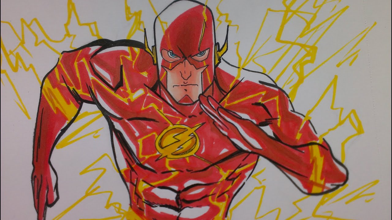 Prismacolor Speed Draw The Flash Youtube