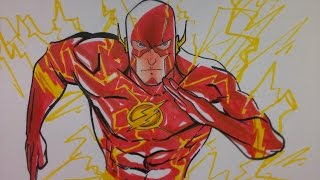 Prismacolor speed draw The Flash