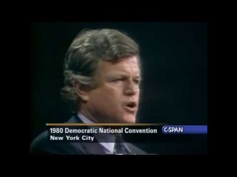"""""""The Dream Shall Never Die"""" Ted Kennedy DNC 1980"""