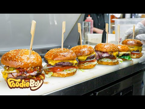 Sold out every day! The hamburger that won the 1st place in the US Best Burger Awards 3 times! - FoodieBoy 푸디보이