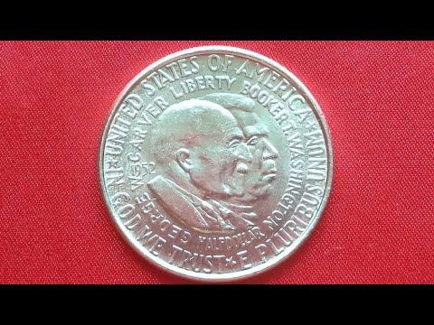 USA Commemorative SILVER Half Dollars 1952 - BOOKER T. WASHINGTON AND GEORGE WASHINGTON CARVER.