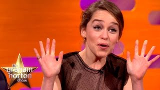 Download Emilia Clarke Watched Game Of Thrones Nude Scene With Her Parents  - The Graham Norton Show