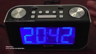 радиочасы Vitek VT-3521 (ВК) с подсветкой и FM