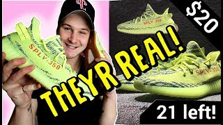 BUYING UNRELEASED FROZEN YELLOW YEEZYS OFF INSTAGRAM ADS!! ARE THEY LEGIT?