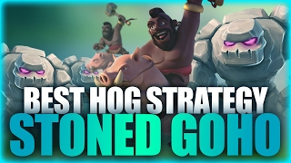 One Of Best Hog Strategy | Stoned Goho (3 Golems + Hogs) | Clash Of Clans