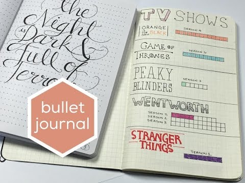 BULLET JOURNAL FLIP THROUGH   HAND LETTERING SNEAK PEEK!   COLLAB WITH I'M A COOL MOM