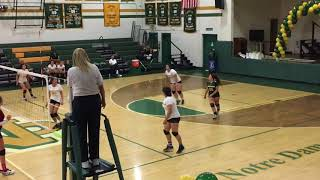 Erin's Final  NDHS JV Volleyball Game