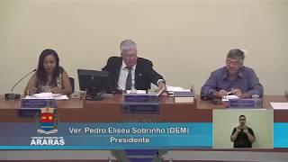 1ª Sessão Extraordinária - Câmara Municipal de Araras