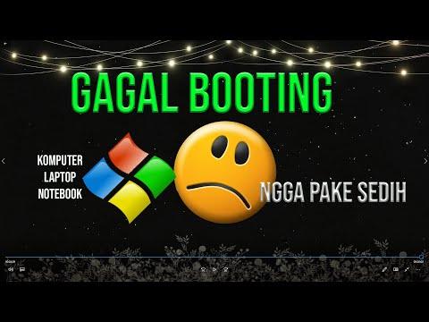 Tutorial Cara mengatasi Windows Gagal Booting tanpa instal ulang.