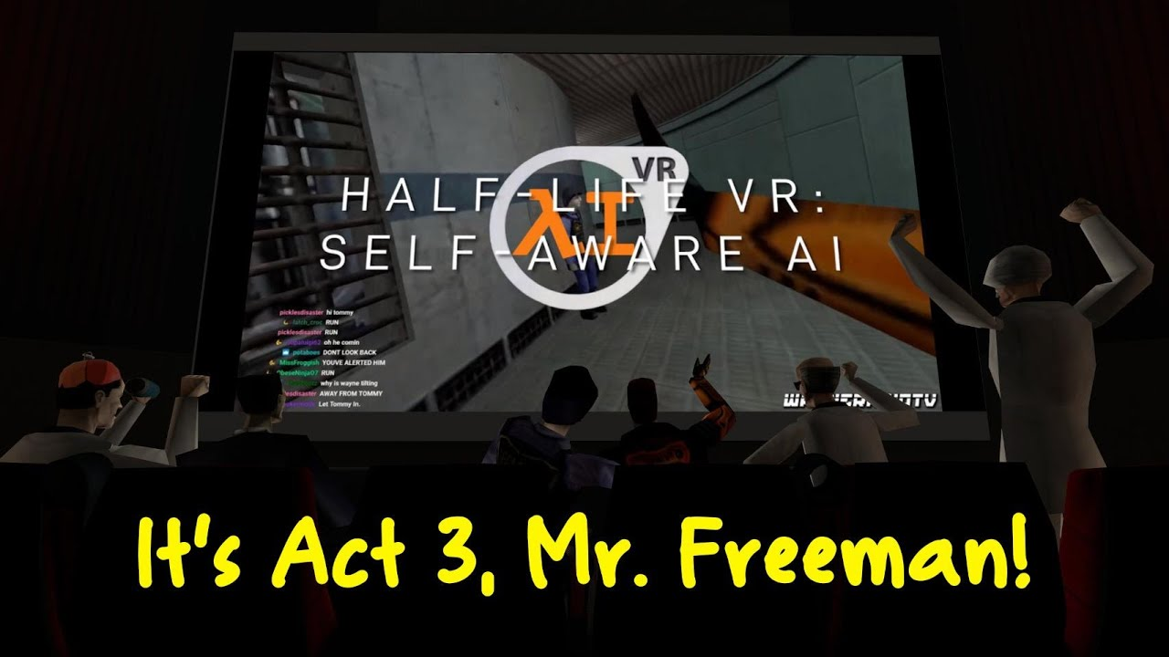 Half-Life VR:AI But The Cast is Commentating (ACT 3)