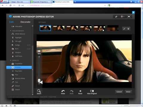 Descargar programa para editar las fotos.