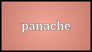Panache Meaning