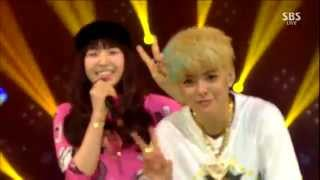 150215 Amber 엠버   SHAKE THAT BRASS Feat  Wendy of Red Velvet @ Debut Stage 1080P