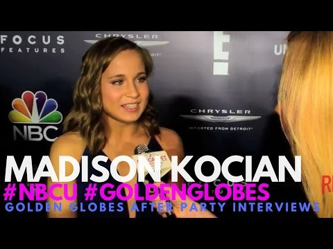 Madison Kocian Olympian interviewed at NBC Universals's 74th Annual Golden Globes After Party