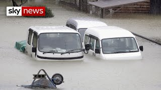 Two dead as Typhoon Hagibis hits Japan