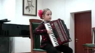 Аккордеон конкурс в г.Пушкино Марина Рогонова(8 лет)..avi