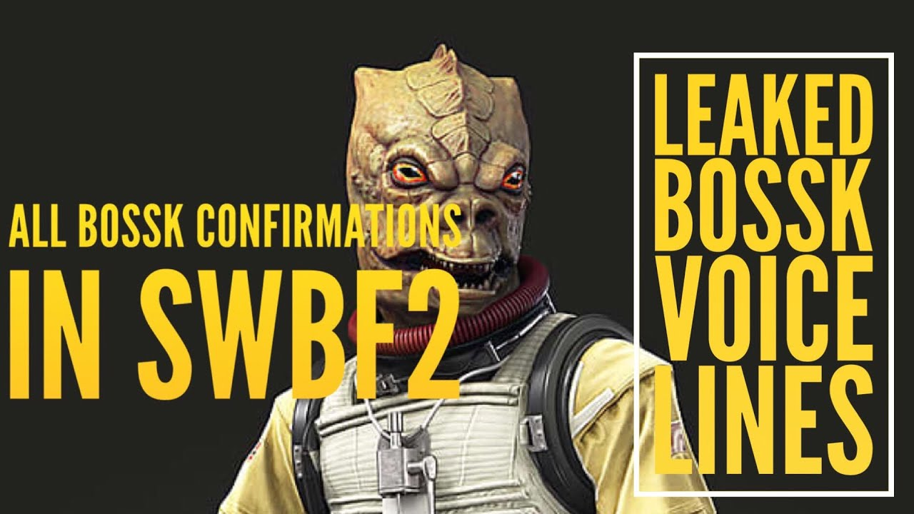 Bossk In Battlefront 2 Confirmation And Voice Lines Youtube